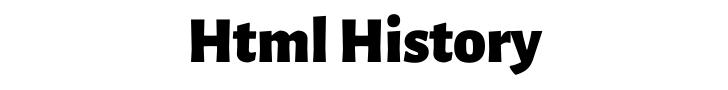 html history