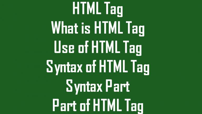 Learn html html tag basic html course