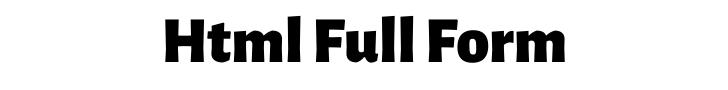 html full form
