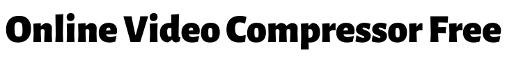 online video compressor free