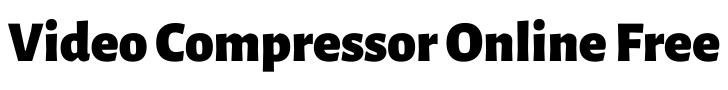 video compressor online free