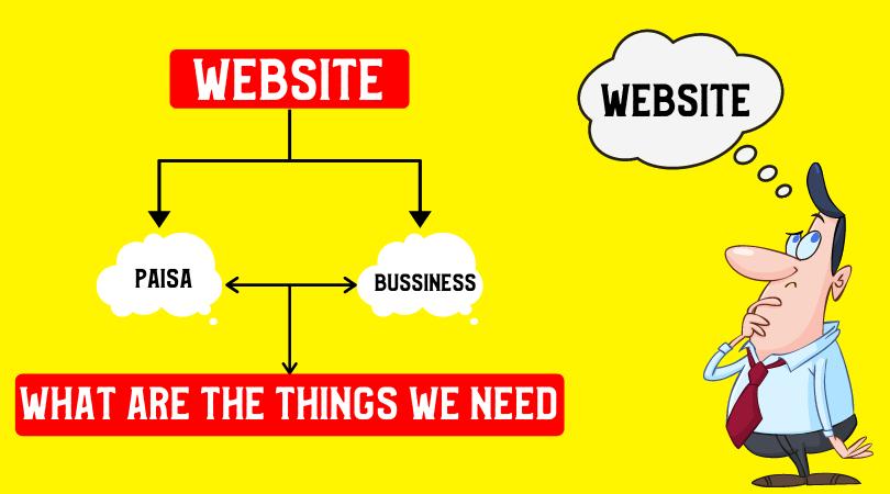 Website बनाने के लिए किन-किन चीजों की जरूरत पड़ती है