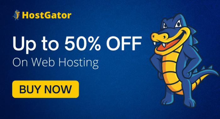 HostGator 50% Discount Offer