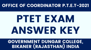 PTET Answer Key 2021 Solved Question Paper PDF Download